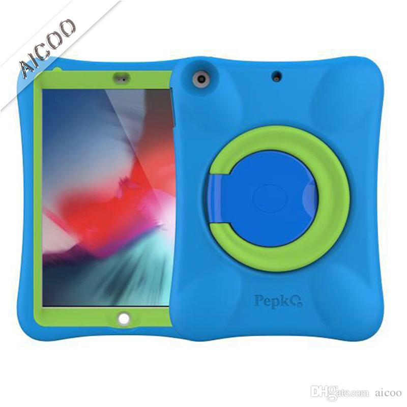 Kids Children Handle Stand EVA Foam Soft Shockproof Tablet Case with Screen Film for New iPad 9.7 2017 2018 5 6 Air 1 2 OPP