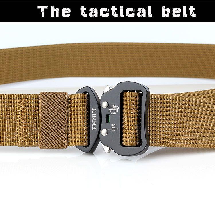 Wholesale New Design 3.8 cm Tactical Duty Nylon Belt Multi-functional Army Training Outdoor Cobra Waist Belt