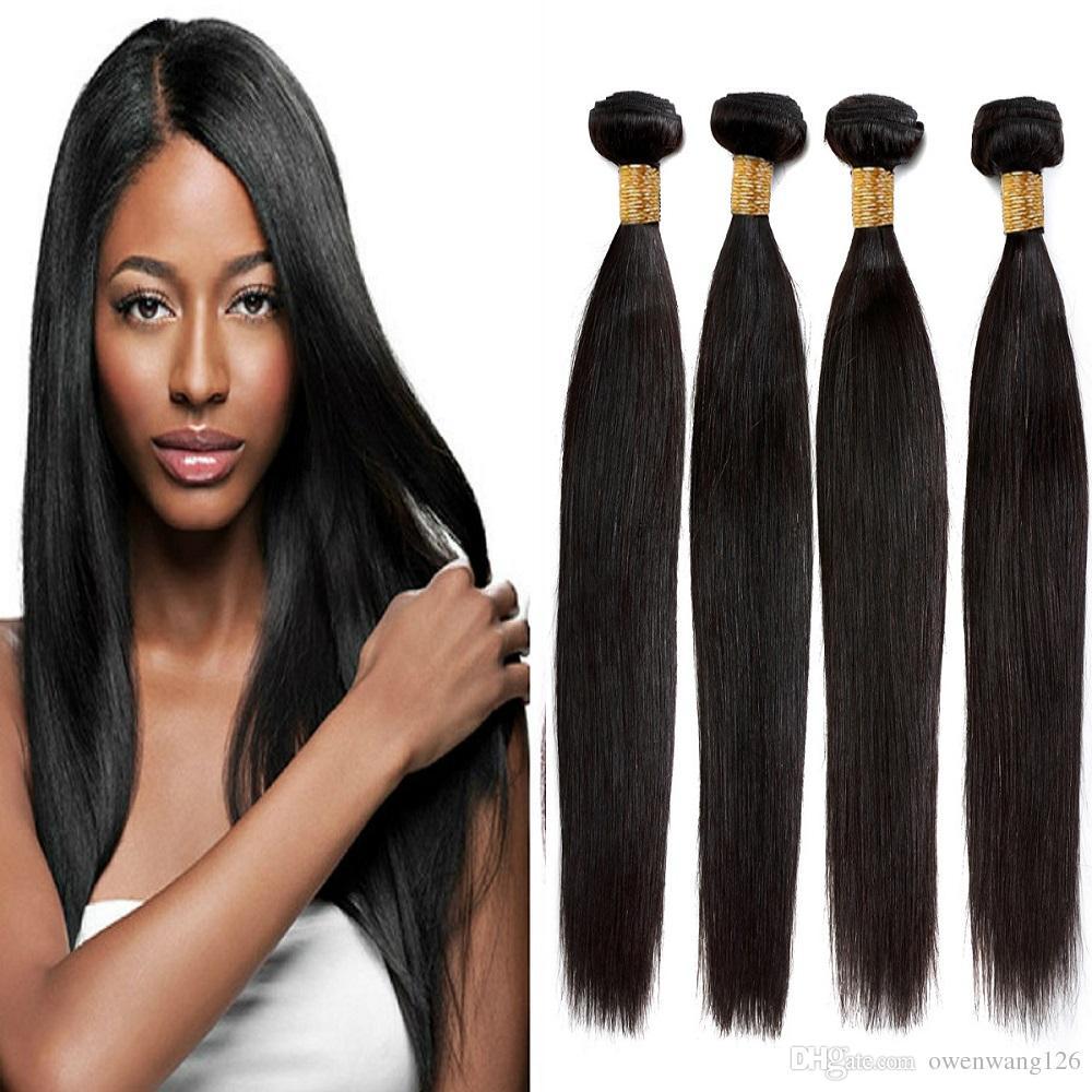 2018 Virgin Remy Hair Extensions 8a Malaysian Straight Hair 4