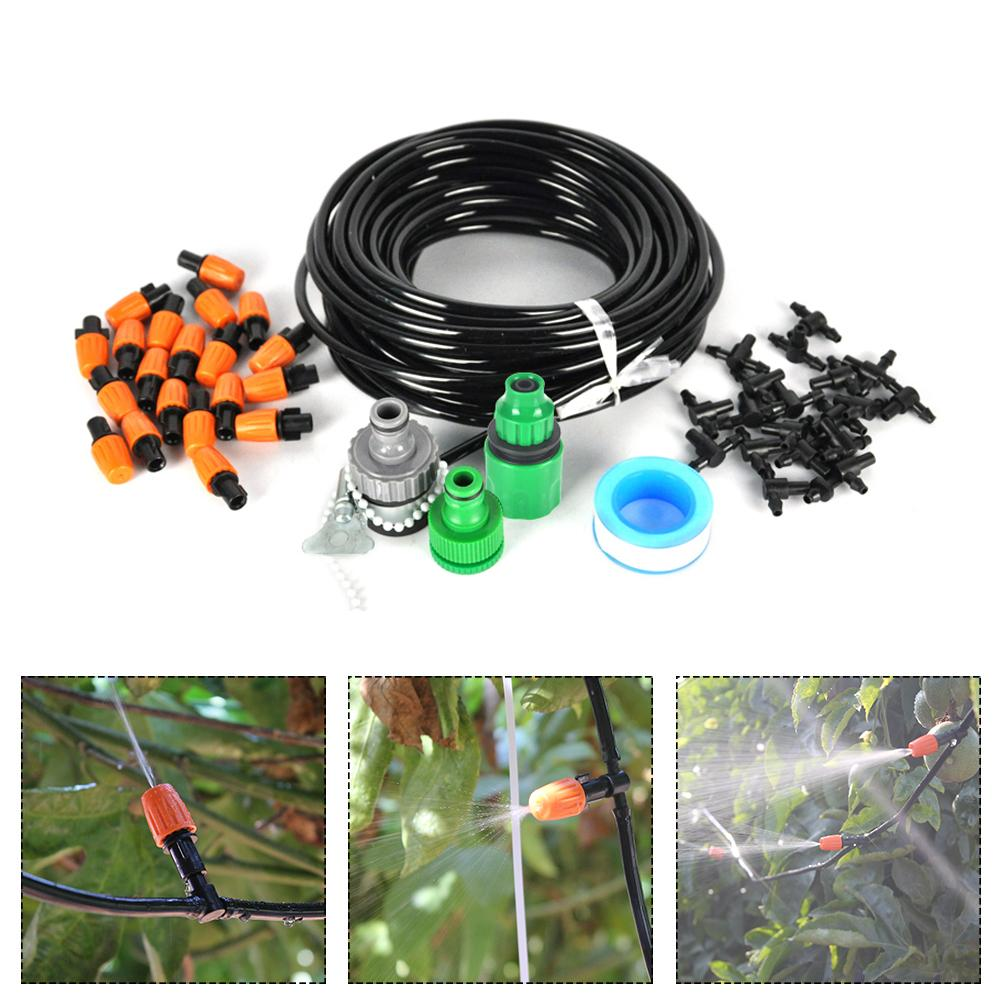 15m Automatic Micro Drip Irrigation System Adjustable Dripper Faucet Sprinkler Spray Self Watering Kits For Garden Flowers