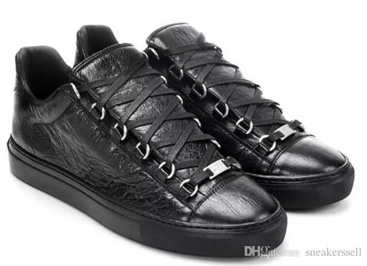 87a8c6a496a Compre MFF996A Tamaño 35 47 Hombres Mujeres Negro Serpiente De Impresión De  Cuero Low Top Lace Up Moda Red Bottom Sneakers, Unisex Marca De Lujo  Comfort ...