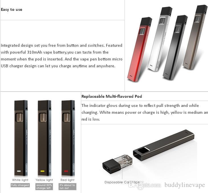 China distributor buddy Bpod 1 ml integrated vape pen kits 310mah battery 1ml cartridge empty replaced flavors tank