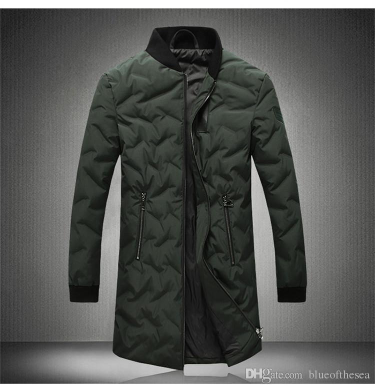 f49d892956 NUOVI uomini giù cappotti invernali uomo parka piumini slim fit uomo nero  lungo piumino da uomo parka maschile abito plus size M-5XL