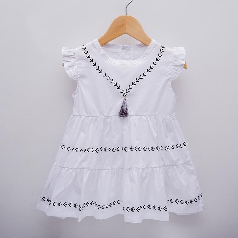 8190bec2277 Compre Borla De Bebé Niñas Vestido De Algodón Tejido Verano Vestido De  Fiesta Para Bebés Brithday Ropa De Niña Infantil 4 6 9 12 18 24 Meses De  Ropa A ...