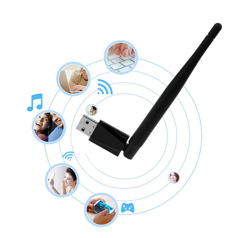 New 2.4-2.4835GHz Wifi Adapter 300M Wi-Fi Transmitter Network Card for PC Notebook with 3.5dBi External Antenna