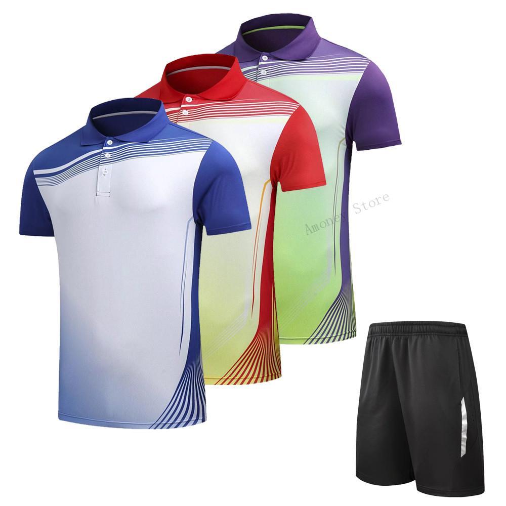 Compre Adsmoney POLO Collar Traje De Camisa De Bádminton De Secado Rápido 32aaf5552dba3