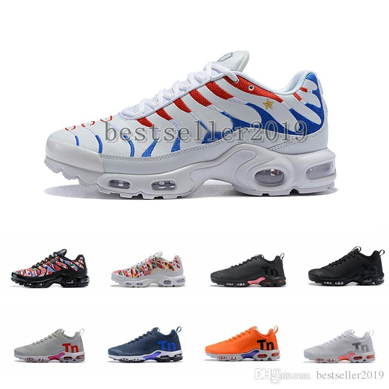 huge discount c0fc7 e6f6c 2018 Mercurial Plus Tn QS Running Shoes Tns Ultra International Flag Brand  Designer Air Chaussures Women Mens Trainers Authentic Maxes Femme Shoes  Sports ...
