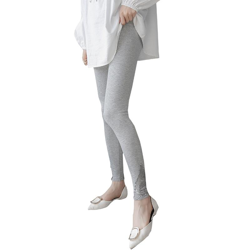fa76ad4e08c10 2019 Pengpious Solid Color Autumn Pregnant Women Skinny Leggings 3 9 Months  Pregnancy Can Wear Maternity High Waist Basic Pants Thin From Moongate, ...