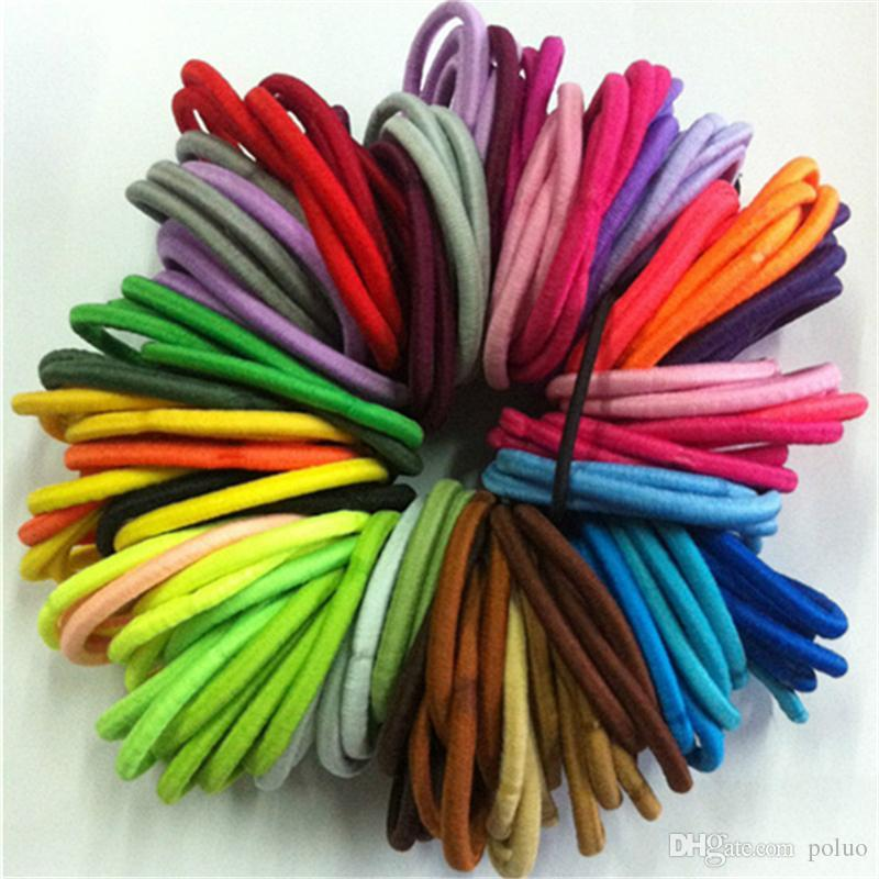 50 Quality Thick Endless Snag Free Hair Elastics Bobbles Bands Ponios Mix  Fashion Solid Girls Hair Bands Crochet Hair Accessories Hair Accessories  For ... 9c9e28f907d