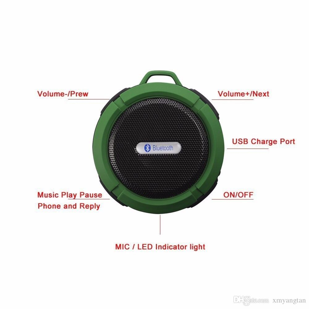 Портативный мини Bluetooth спикер Водонепроницаемые Гаджеты Беспроводной автомобильный Bluetooth Altavoz с Вызова Handsfree и присоской