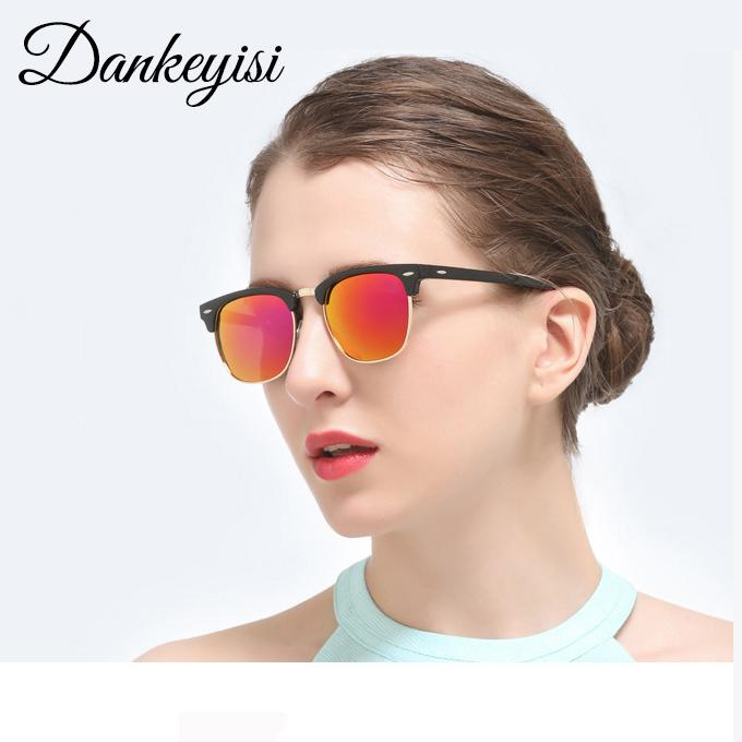 08f4774bb0 DANKEYISI Goggle Vintage Polarized Women Sunglasses Men Polaroid Half Frame  Rivets Design Retro Sun Glasses Female Gafas Oculos Sunglasses Case  Knockaround ...