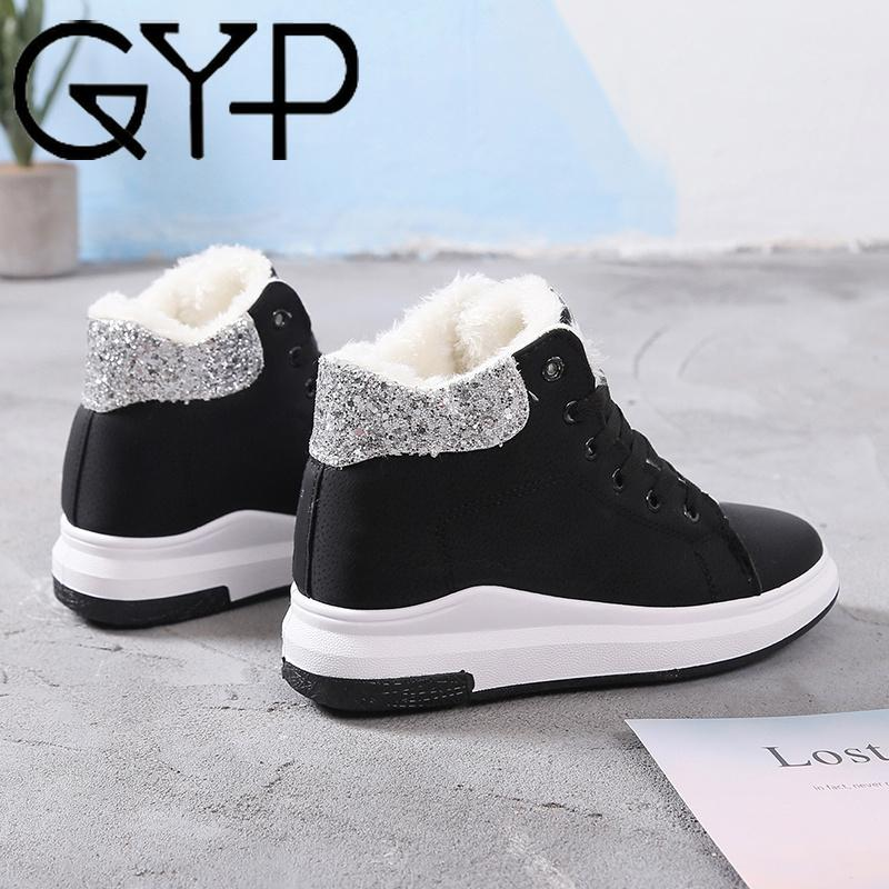 GYP Bling Bling Women Sneakers Winter Warm High Top Running Shoes Sequin  Jogging Shoes Comfortable Non Slip New DP 346 UK 2019 From Yerunku 840686a43