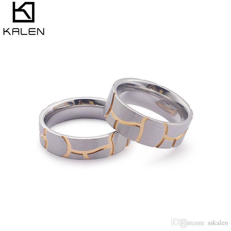 Compre Kalen Ring Men Punk Rock Accesorios Titanio Acero Inoxidable ...
