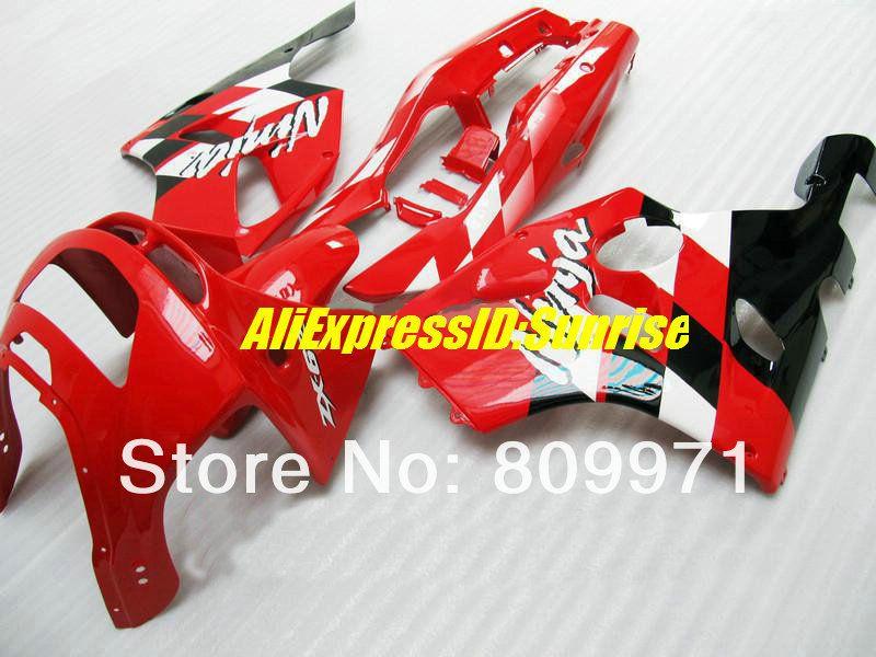 K241 TOP-Selling Carenado completo rojo vivo para KAWASAKI Ninja ZX6R 94-97 ZX-6R 1994-1997 ZX6R 94 95 96 97 1994 1997