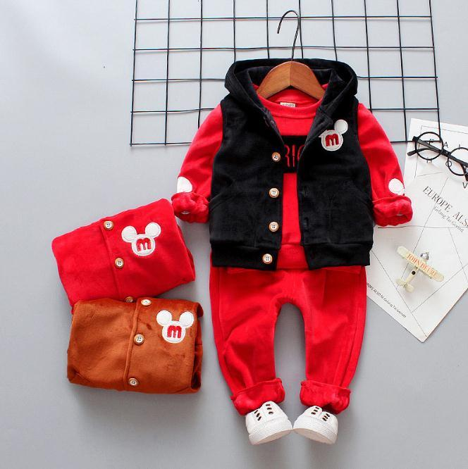 86b1f78b7 Baby Boy Girl Clothing Set Kids Clothing Set Winter Warm Children ...