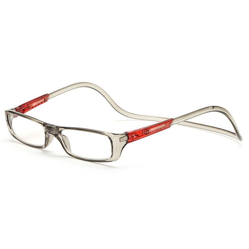 a96b8d6e73 Compre Imán De La Clase Doblez Gafas De Lectura Hombres Y Mujeres Cuello  Colgante Ajustable Magnético Borde Delantero Lentes De Lectura Gafas Marco  De ...