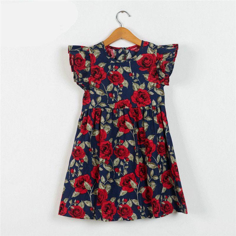 0dcba5d57e8 2019 Kids Dress Baby Girl Dress 2018 Summer Cotton Dresses For Kids  Clothing Baby Girl Clothes Children Vintage Flower Beach Skirts From  Heygeorge