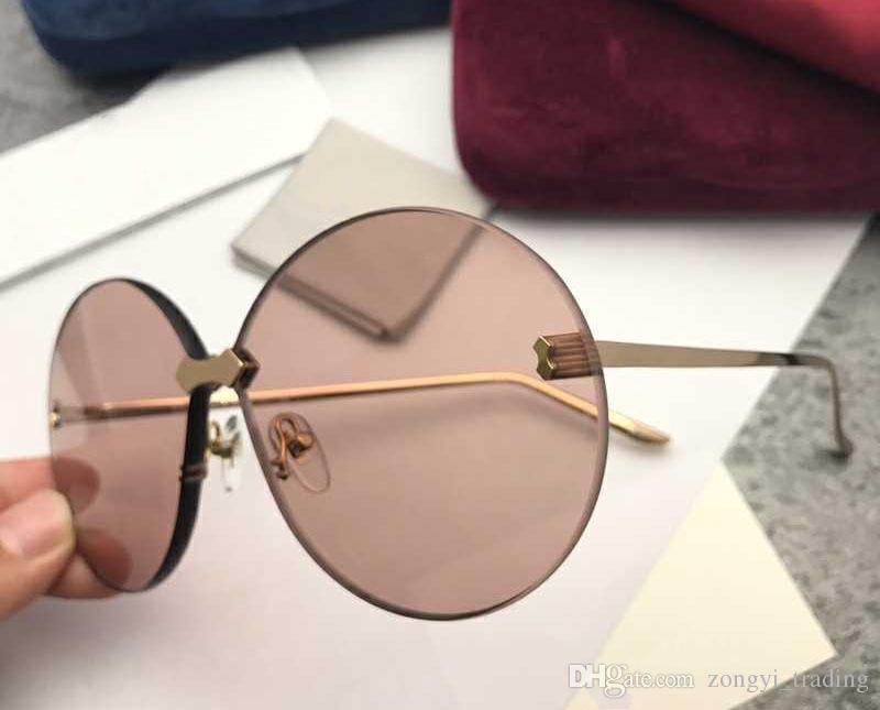design di lusso 0353S nuovo modo di alta qualità 5,0 lente spessore occhiali da sole d'uomini protezione UV400 con la scatola originale 0353