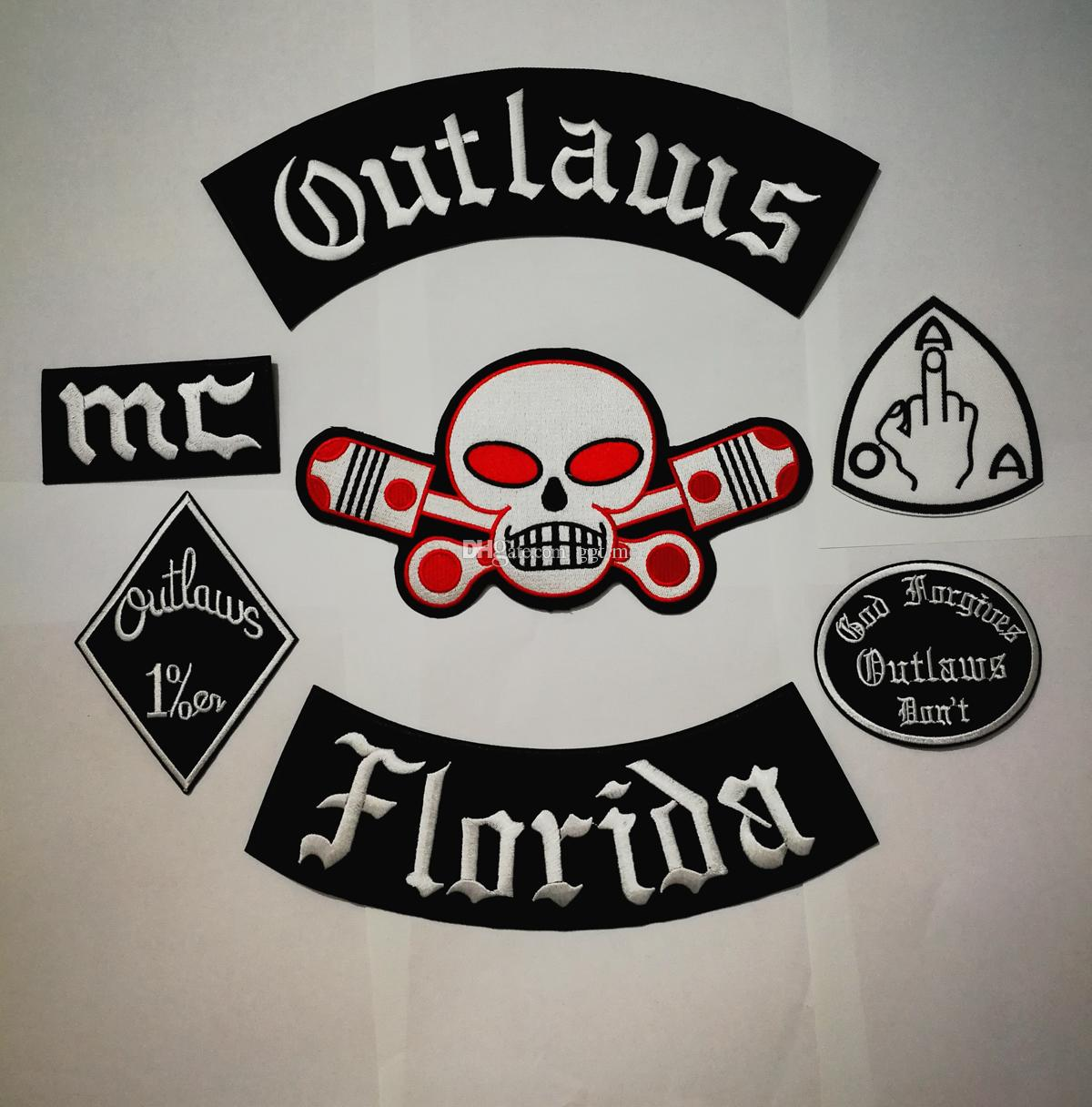 Newest Outlaws Patches Embroidered Iron on Biker Patches for the Motorcycle  Jacket Vest Patch Old HAMC Outlaws MC Patch badges stocker
