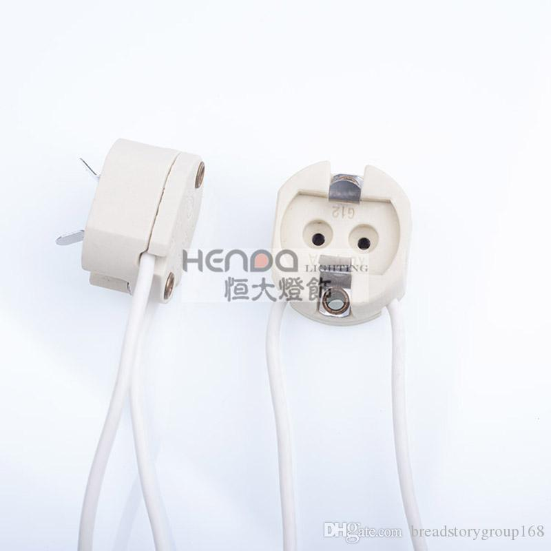 G12 Ceramic Lamp Holder Gold Halogen Lamp Base Booth Display Stands Showcase Lighting Accessories Double Needle Lamp Head