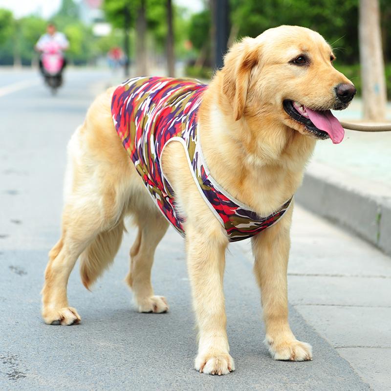 8dea8777d18a 2019 Large Dog Vest Big Dog Clothes Summer T Shirt Rottweiler Husky Golden  Retriever Samoyed Big Pet Clothing Costume From Bananain, $22.56 |  DHgate.Com