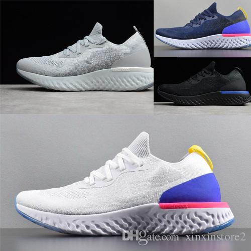 save off 6e595 263c7 Acheter Nike Epic React Flyknit 2018 Classic Epic React Instant Fly Souffle  Confortable Sport Taille 5.5 11 Mens Running Designer Chaussures À Vendre  Femmes ...
