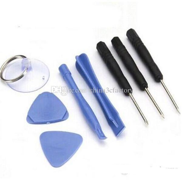 Wholesale-8 in 1 REPAIR PRY KIT OPENING TOOLS With 5 Point Star Pentalobe Torx Screwdriver For iphone 4/ 5/5s/5c/6