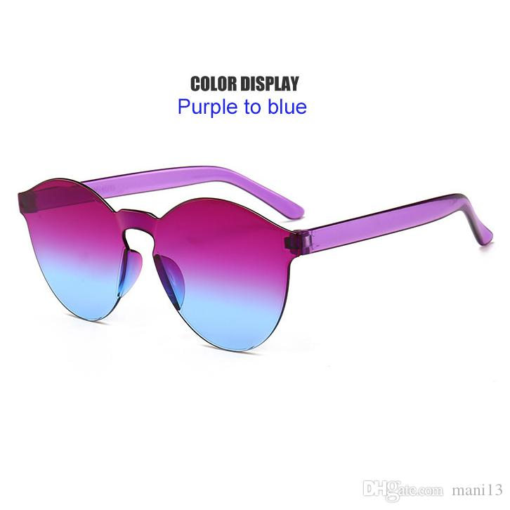 2a122da927 2018 Summer Women Rimless Sunglasses Transparent Shades Sun Glasses Female  Cool Candy Color UVEyewear Heart Shaped Sunglasses Mirrored Sunglasses From  ...