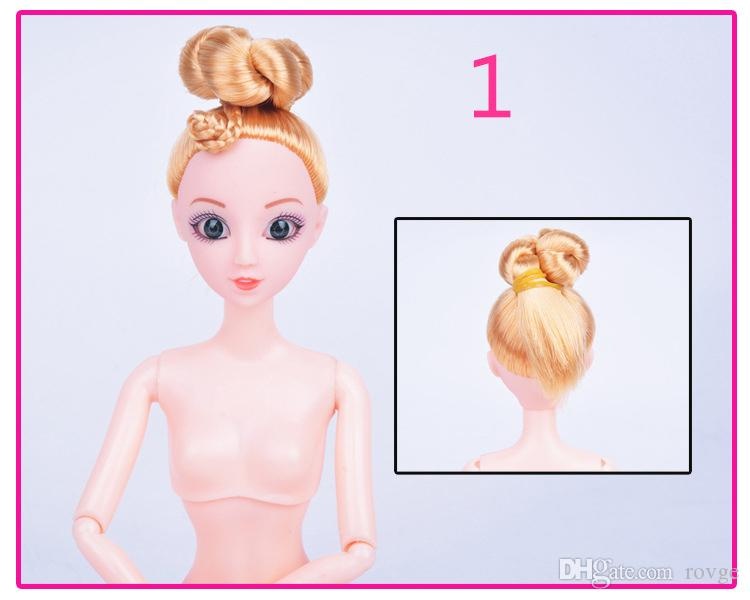 The new 10 models 30CM bare doll head 12 doll joint mobile nude doll children accessories DIY toys