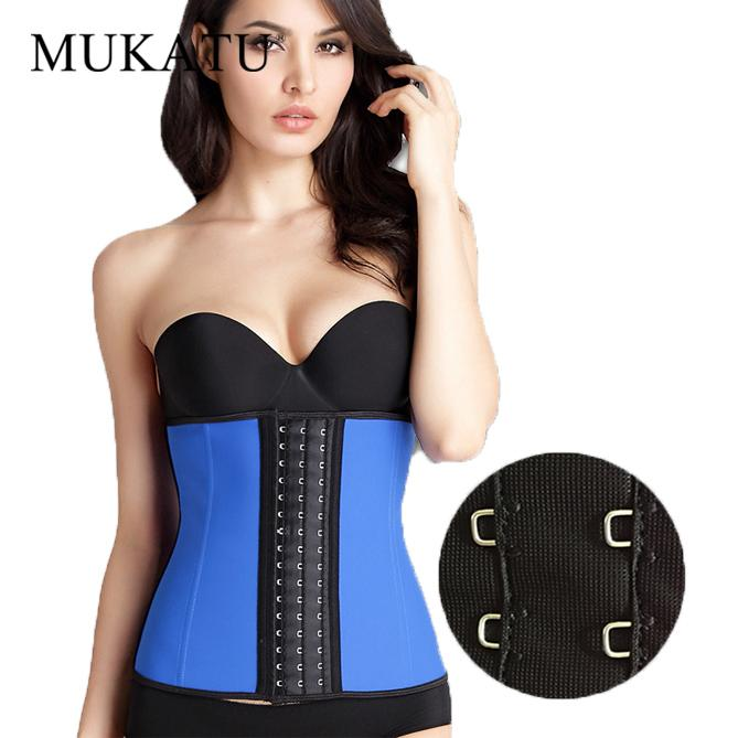 4d94495579 2018 Mukatu New Big Buckle 9 Steel Bone Waist Shaper Corset 100% Latex  Waist Trainer Body Shaper Corset Women Cincher Slim Belt From Vanilla04