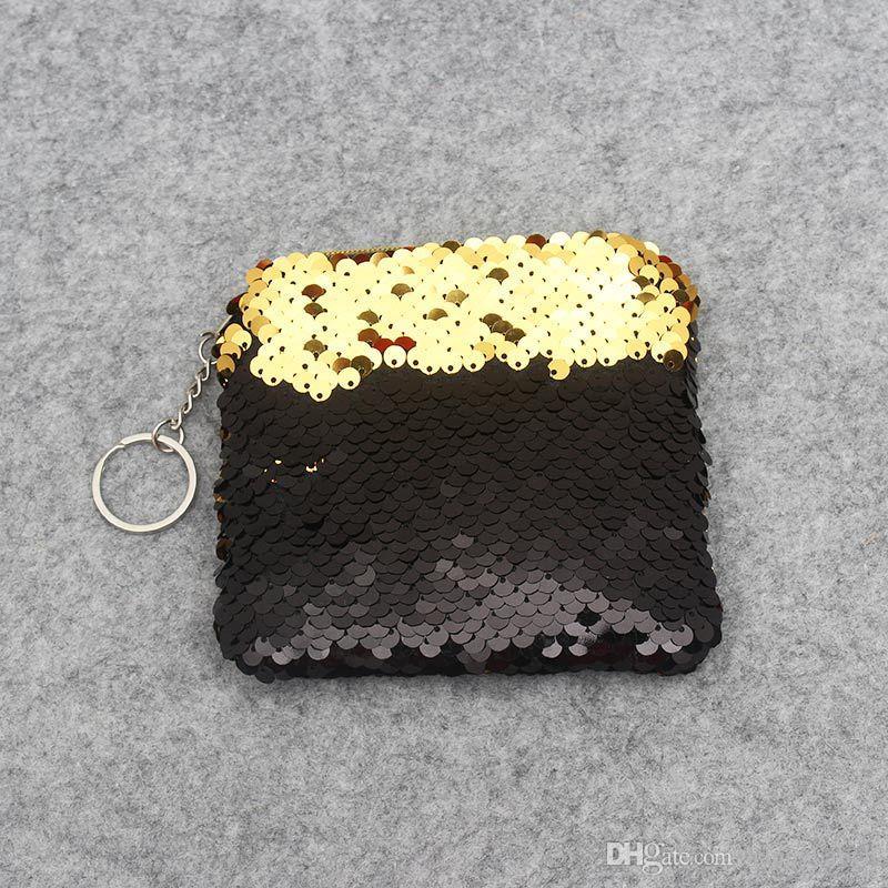 Meninas Da Moda Nova Glitter Sereia Lantejoulas Saco De Embreagem Lantejoulas Coin Carteira Bolsa de Maquiagem Sacos de Armazenamento Bolsa