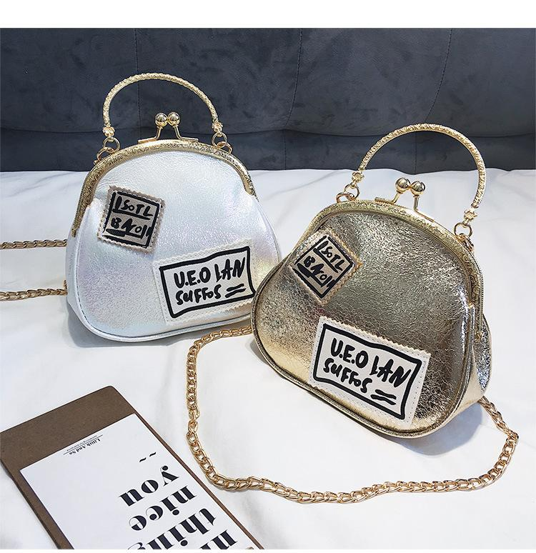 3e3c1b50e8a Mylb Fashionable Korean Version Chain Bag Lady Shopping Letters Single  Shoulder Oblique Bag Mini Handbag For Girl Women Leather Briefcase  Wholesale Handbags ...