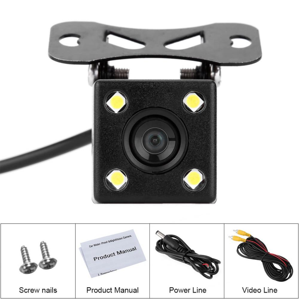 eClouds Waterproof Car HD CCD rear view Camera Night Version backup reverse camera For car media player