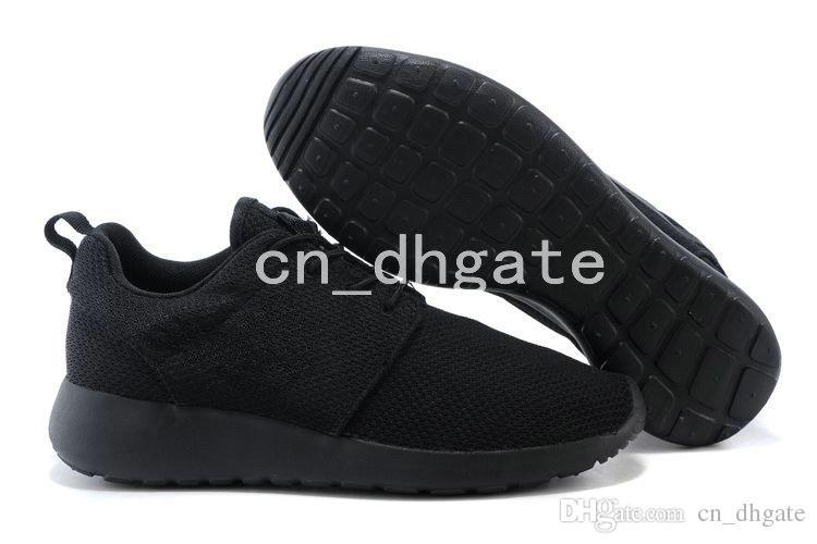 the best attitude 6b1a7 56bca Acheter 2018 New London Olympic Chaussures De Course Pour Hommes Femmes  Sport Classique Tout Noir De Mode Sport Zapatos Courses Hommes Baskets  Sneakers 36 ...
