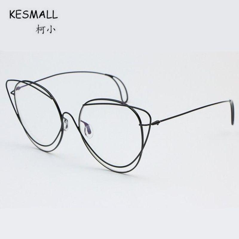 658bc274d46 KESMALL 2018 Newest Ultra-light Cat Eye Glasses Frame Fashion Women ...