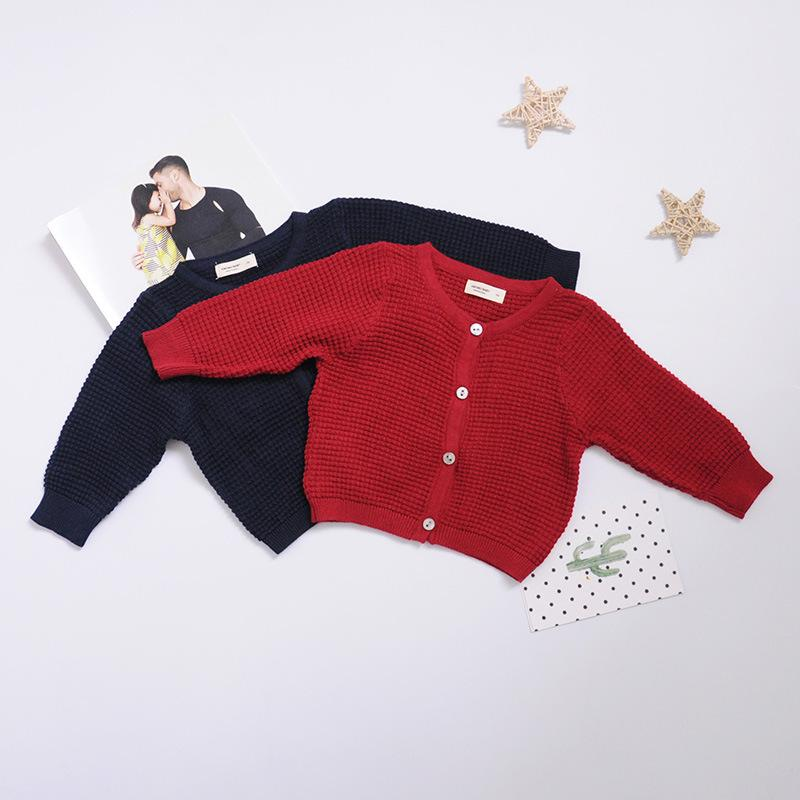Newborn Baby Cardigan Sweater For Boys Girls Autumn Infant Girl Knitted Sweater Clothes Toddler Boy Cotton Cardigan Outerwear