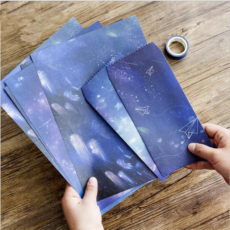 Compre 2 Envelopes 4 Carta Papel Kawaii Estética Estrelas Envelope