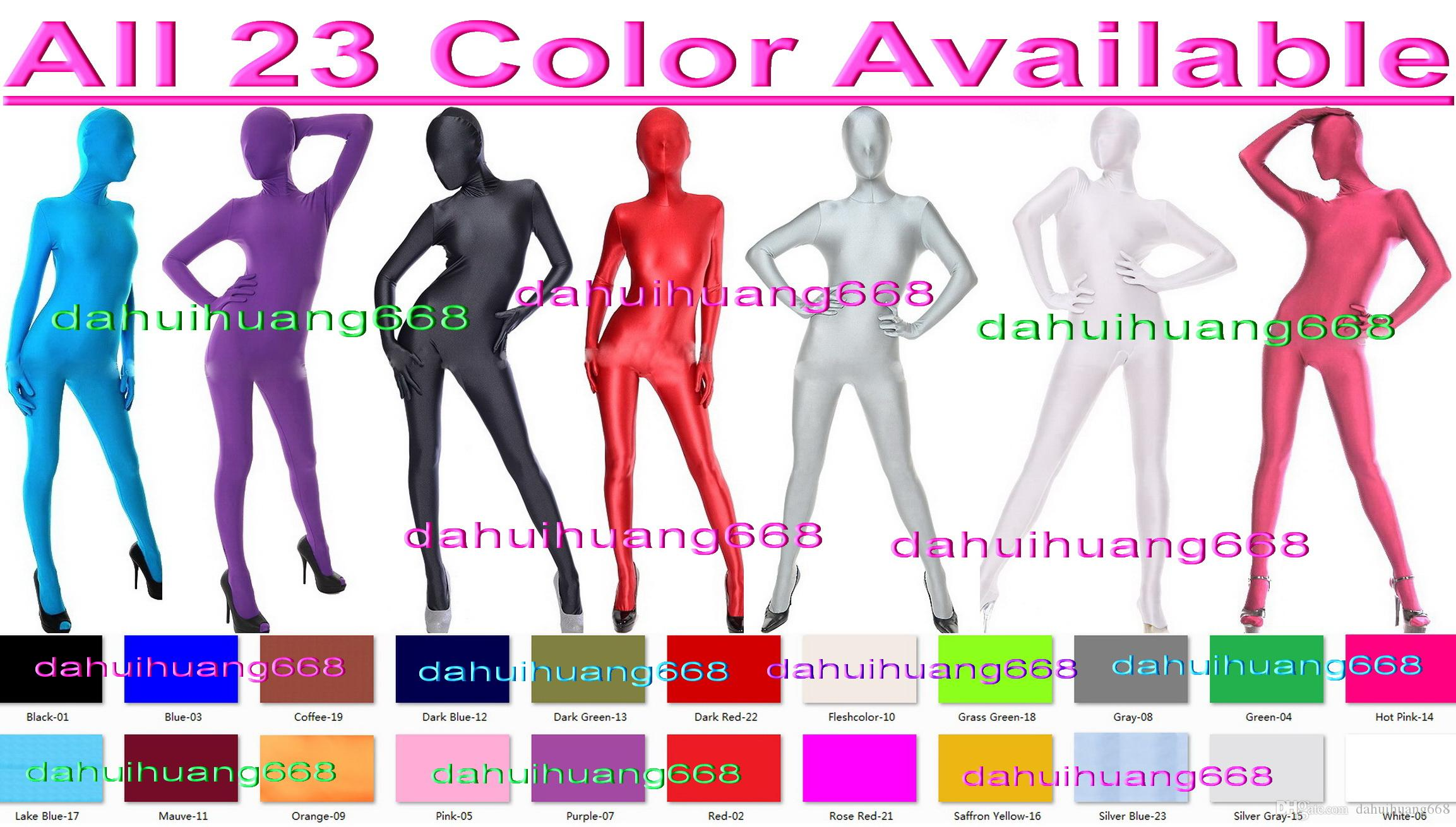 Unisex Full Bodysuit Costumes Outfit New 24 Color Lycra Spandex Suit Catsuit Costumes Unisex Sexy Body Suit Halloween Cosplay Costumes DH038