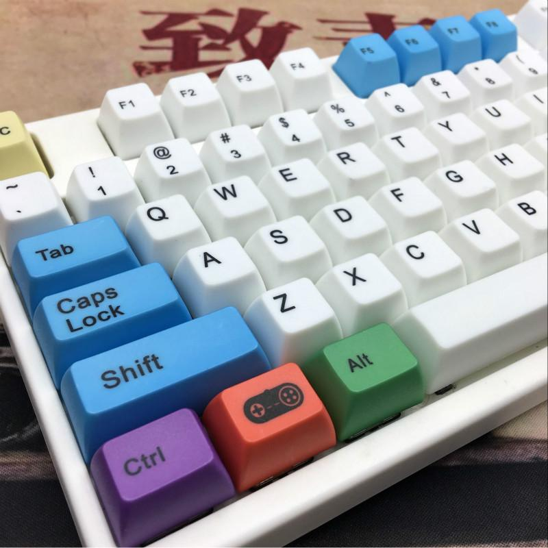 Coloured Chalk Keycap Mechanical Keyboard PBT keycaps SA Profile Cap ANIS  Layout Keyboard Keycap For Cherry MX Switch