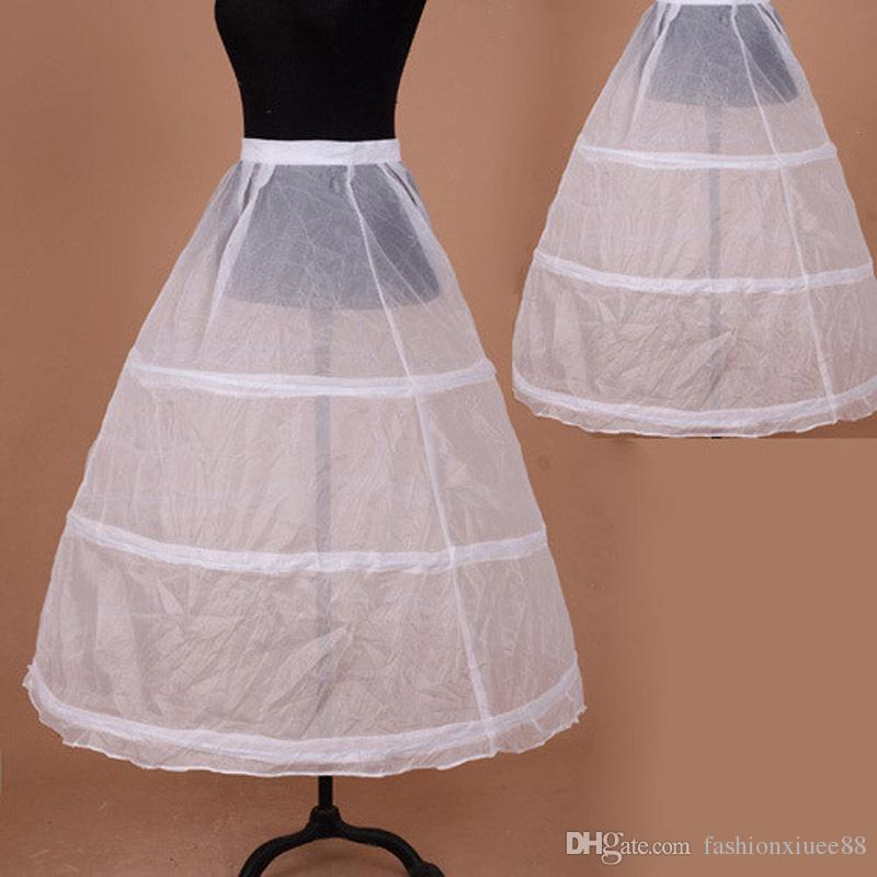 3 Aros Blancos Una Línea Vestido Largo de Niña en Flor Enagua Niños Enagua de Ballet Niño Crinolina Faldas de Tutú Niñas enaguas