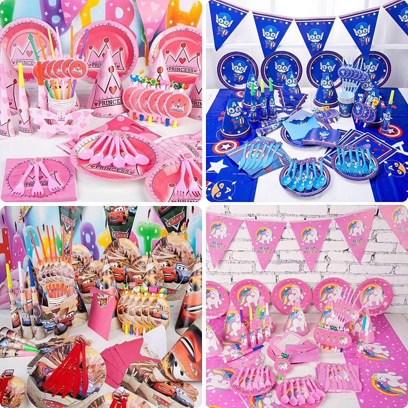Grosshandel Kinder Geburtstagsparty Dekoration Sets Liefern 38