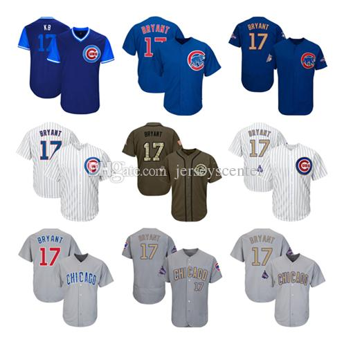 low priced 6bd3e 13207 france chicago cubs 17 kris bryant green salute to service ...