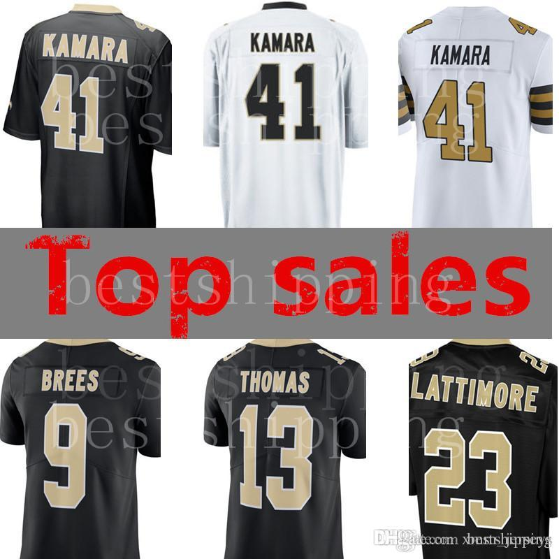 2018 Men 41 Alvin Kamara 9 Drew Brees 23 Marshon Lattimore 13 Michael Thomas  28 Adrian Peterson Jersey New Orleans Saints Football Jerseys From  Xmm jerseys 59fbdb035