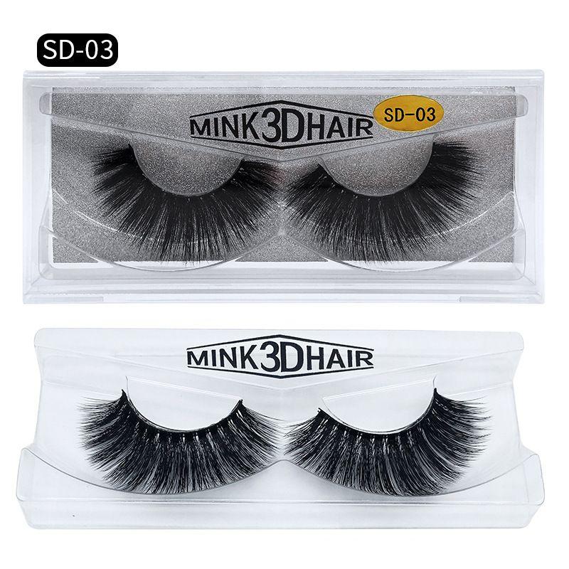 Super Beautiful 3D Mink lashes 11 beauty Styles slender thick charming natural Extension fake Eyelashes 100% Thick real mink false eyelashes
