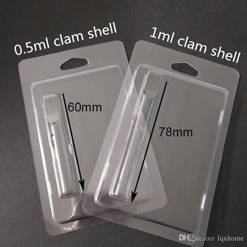 Venta al por mayor de Clear Clam Shell Blister Embalaje para todos los cartuchos G2 92A3 vaporizador 510 hilo grueso aceite atomizador envío gratis