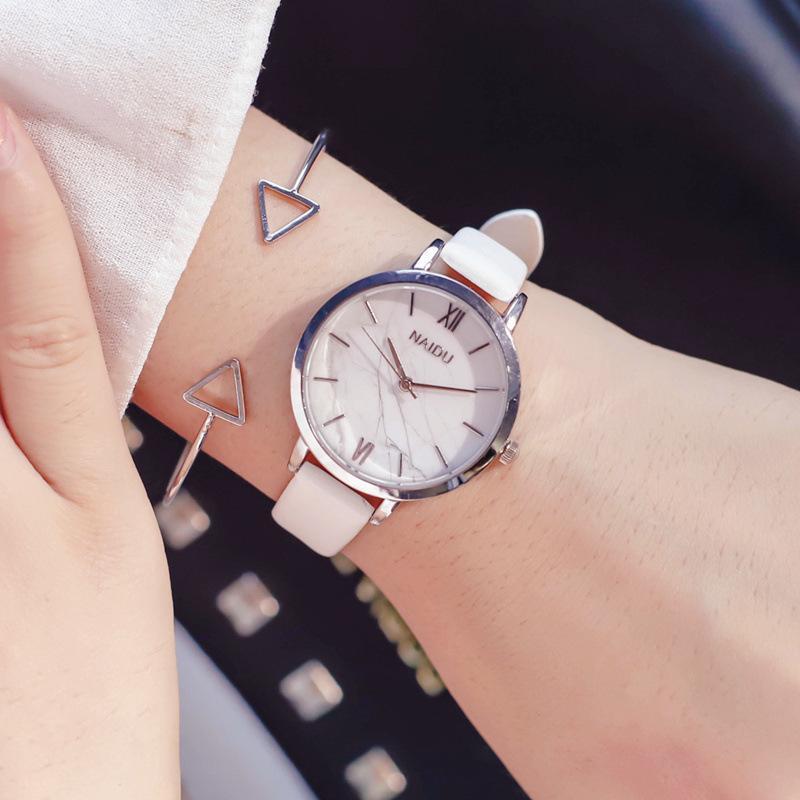 ded8ebadd8 Mode Uhren Marmor Zifferblatt Frau Quarzuhr Frauen Thin Casual Lederband  Uhr Frau