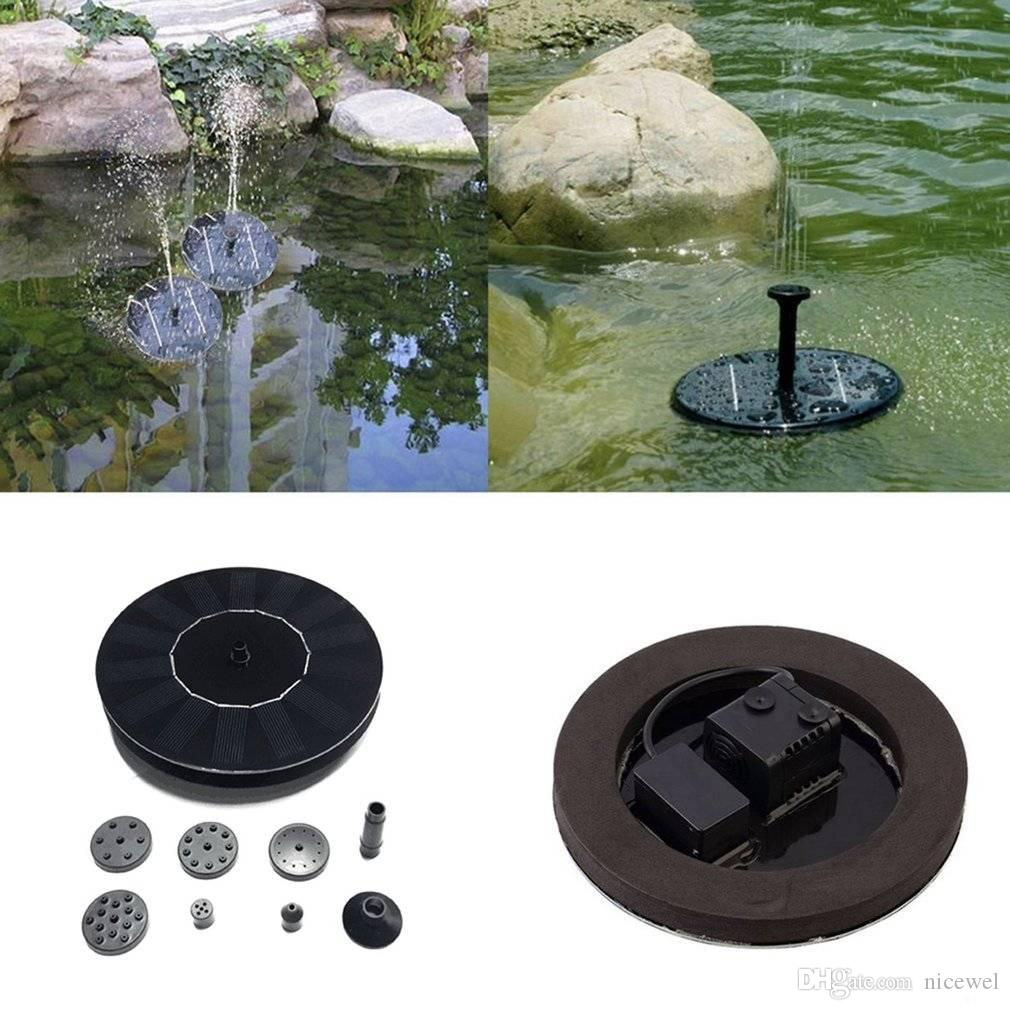 2018 Solar Powered Water Pump Garden Fountain Pond Kit For Waterfalls Water  Display For Fountains, Waterfalls And Water Displays From Nicewel, ...