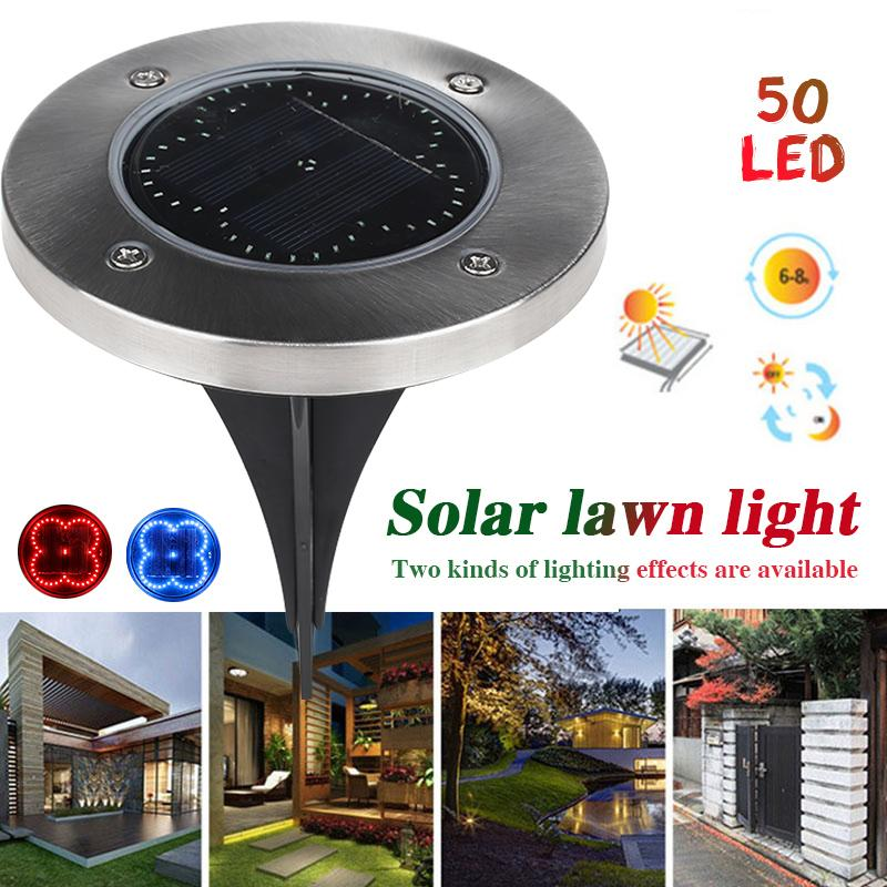 2018 Eco Friendly Disk Lights Ground L& Path Way Outdoor Walkway Lights Buried Light Solar Power 50led From Sebastiani $55.23 | Dhgate.Com