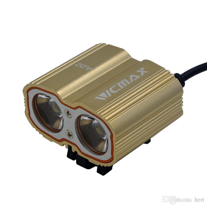 A22 XM-L T6 LED Vélo Vélo Vélo Tête De Lumière Avant Lumières flash light + Batterie + Chargeur