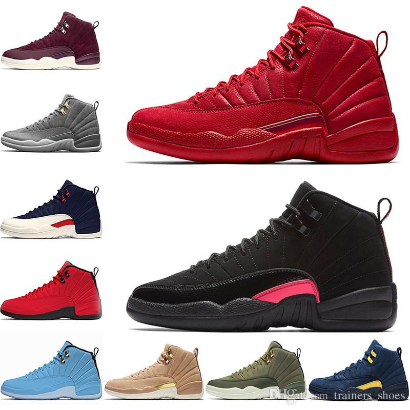 online store c705b 78afb Nike Air Jordan 12 Retro Gimnasio Red Bulls 12s Hombres Zapatillas de  baloncesto Rush Pink Clase de 2003 Michigan Navy Hombres Diseñador  Entrenador ...